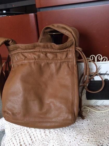 Round She Goes - Market Place - Madamomooi very soft leather bag