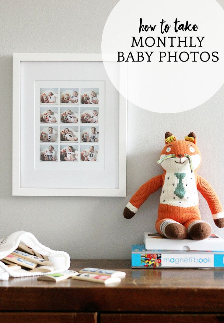 Everything you want to know about how to take monthly baby photos on www.agirlnamedpj.com! - A Girl Named PJ