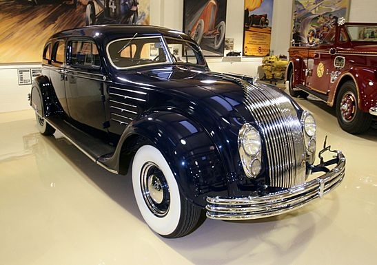 """1934 Chrysler Imperial CX Airflow - """"When Car Design Is Ahead of Its Time"""" (article) Jay Leno's Garage"""