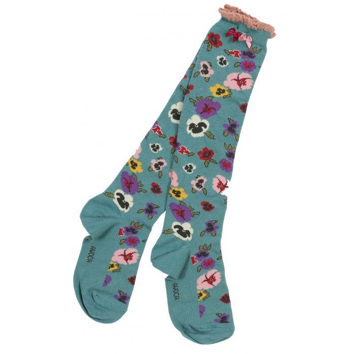 Avoca: Pansy Blue Socks..