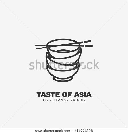 Taste of Asia logo template design. Vector illustration. - stock vector