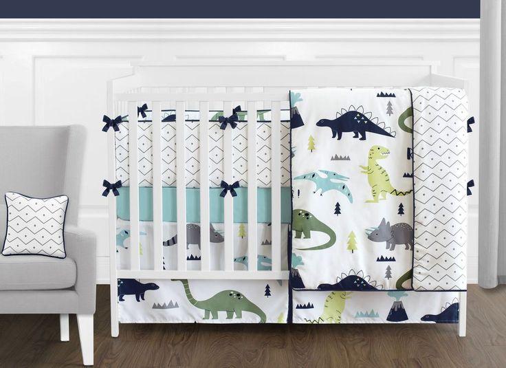 Modern Navy Blue Gray White Lime Green Dinosaur Boys Girls Baby Bedding Crib Set   Baby, Nursery Bedding, Nursery Bedding Sets   eBay!