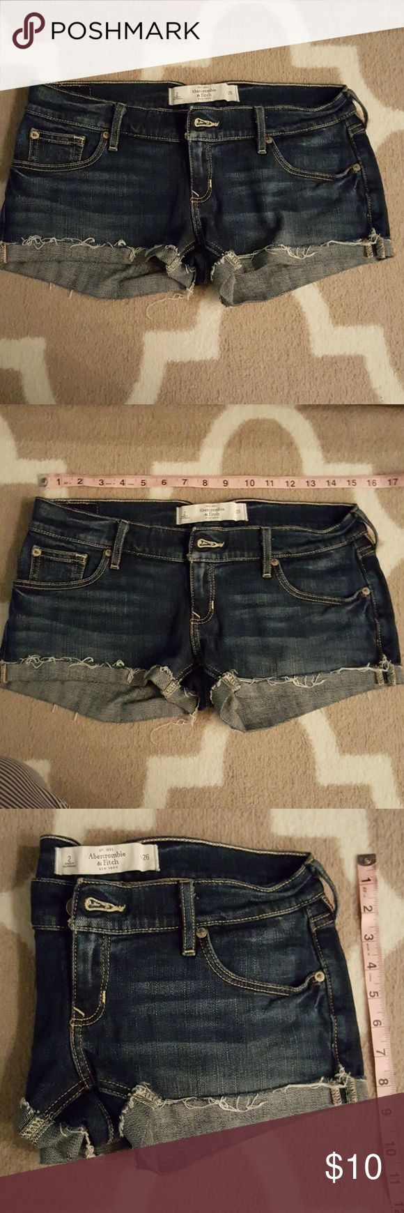 Abercrombie and Fitch Shorts 98%  Cotton and 2% Elastane, waist 26 or 2. Abercrombie & Fitch Shorts Jean Shorts
