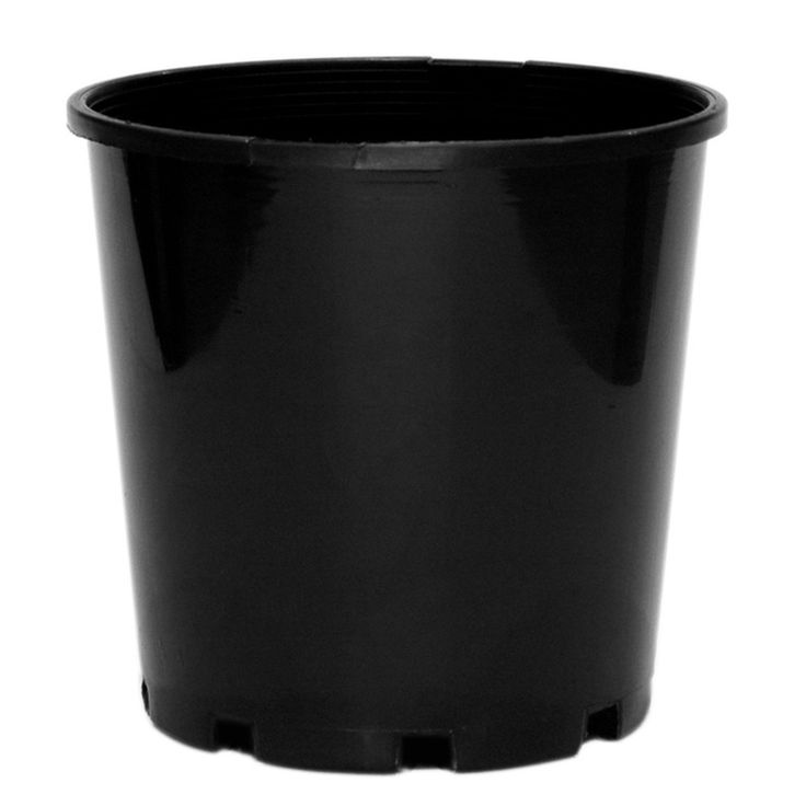 HomeLeisure REKO 140mm Black Round Growers Pot