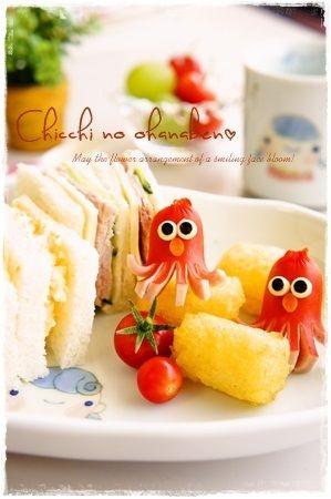 Elmo sausage sandwich