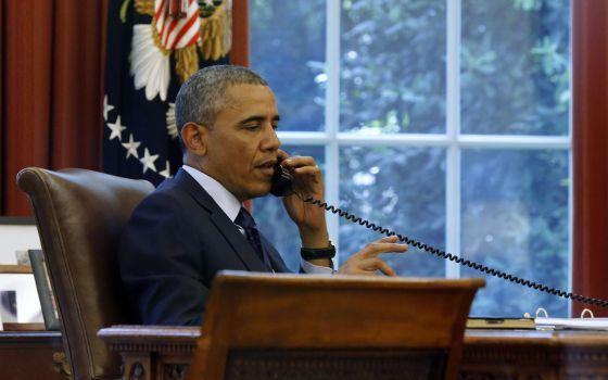 "L., 2 JUN 2014 | VIAJE DE OBAMA A EUROPA - ""Obama viaja a Europa para contener a Putin"". .. La crisis con Rusia por Ucrania domina la gira europea del presidente de EE UU .."