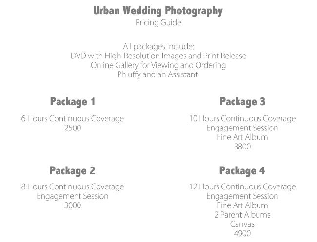 Wedding Rates Photography: Urban-Wedding-Packages-Prices