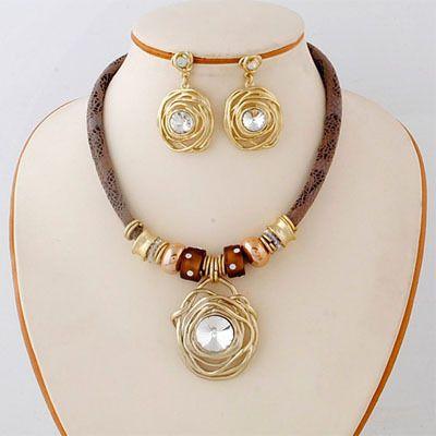 2014 Африканский свадебный костюм имитация золота 18 К набор ювелирных изделий из серебра