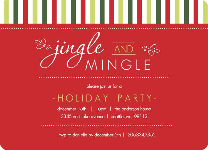 Christmas invite wording. Holiday invite by PurpleTrail.com. | Great Christmas Party Themes ...