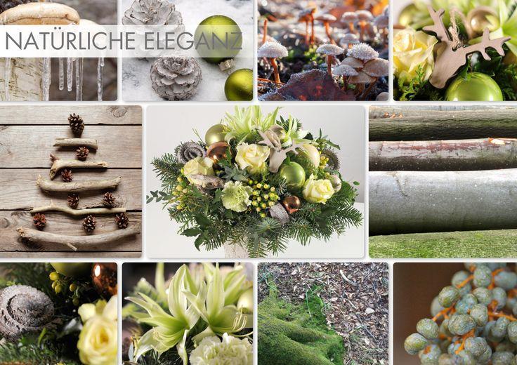 """""""Natürliche Eleganz"""" #trend #weihnachten #elegant #blumen #strauß #schön #deko #geschenk #advent #xmas #grün #creme #rose #kupfer #blume2000 #blume2000de // Lieferbar bis zum 25.12.2014"""