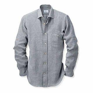 Irisches Leinenhemd gestreift | Einzelstücke