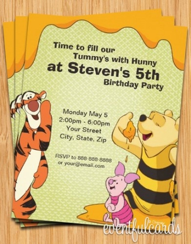 Best Winnie The Pooh Printables Images On Pinterest Tags - Birthday invitation templates winnie pooh