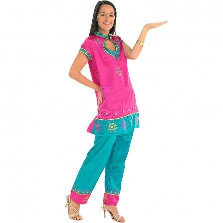 Womens Fuschia Bollywood Costume