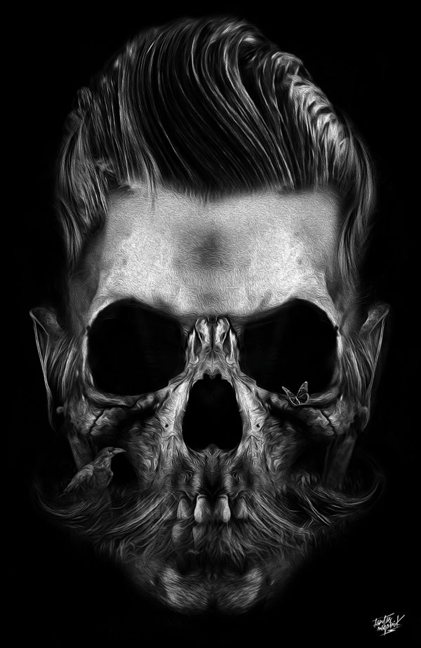FANTASMAGORIK® BARBER SKULL by obery nicolas, via Behance