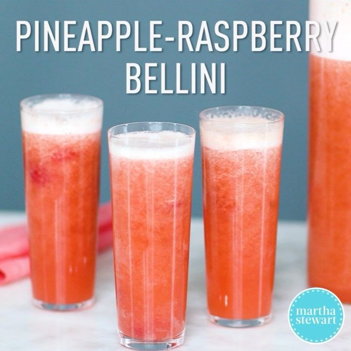 """Martha Stewart on Instagram: """"One big pitcher of this refreshing pineapple-raspberry bellini and you'll be all set for brunch. Mix up a batch using the recipe in our…"""""""