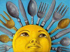 Chefs Delight - CBS Sunday Morning Sun Art   by Linda Apple
