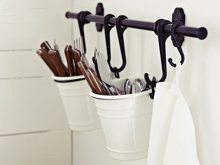 Ikea create a hanging utensil holder with items sold at Ikea hanging kitchen storage