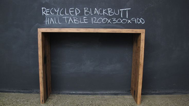 Recycled Custom Mitred Blackbutt Hall Table.