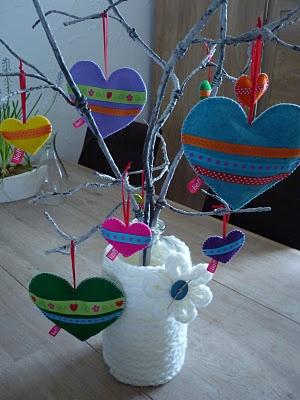 Ingrids creaties .: Even raam versiering voor Kyara gemaakt.
