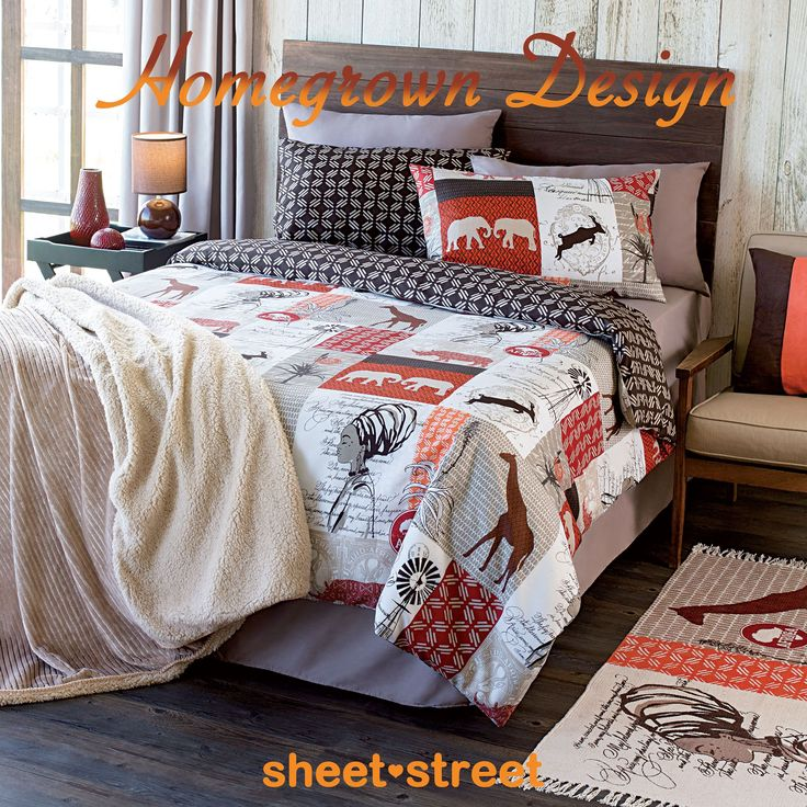 This printed duvet cover would make a stunning enhancement to any bedroom. The ethnic motifs add a distinctly African feel. Coordinate with rich and earthy accessories to complete the look