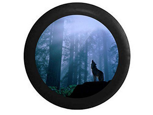 Full Color Wolf Howling at the Moon Forest Lone Predator Spare Tire Cover Black 26275 in >>> Be sure to check out this awesome product.