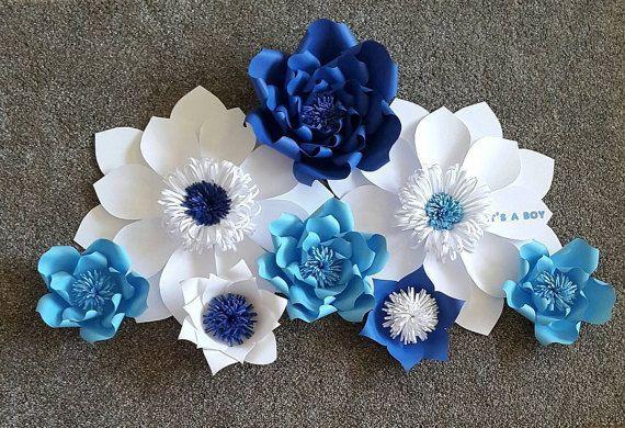 Telón de fondo de bebé ducha, cabina de la foto de bebé ducha, Fondo de mesa de postres, Fondo de flor de papel, pared de flores de papel personalizado, flor de papel de vivero