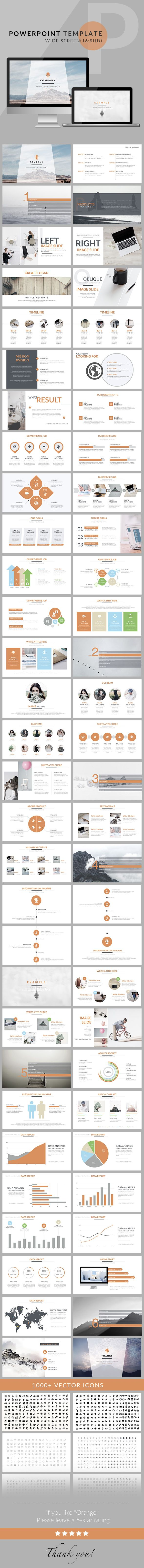 Orange - Clean trend business PowerPoint Template. Download here…