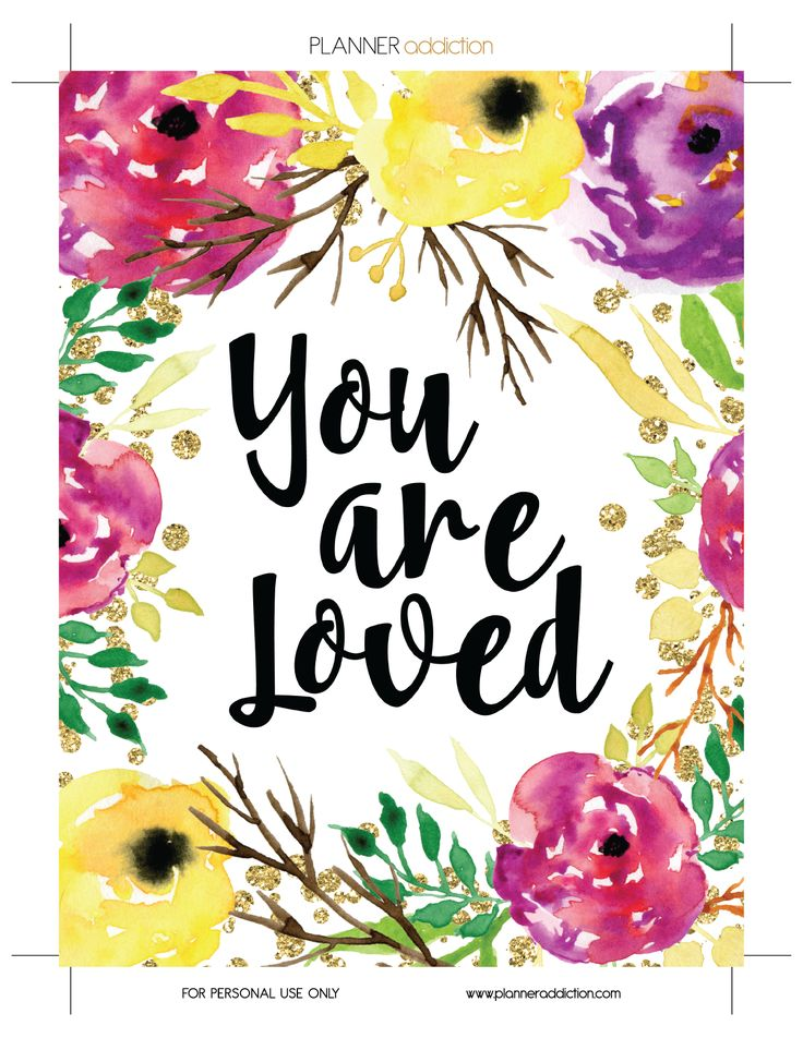 You are loved planner insert, dashboard or cover                                                                                                                                                                                 More