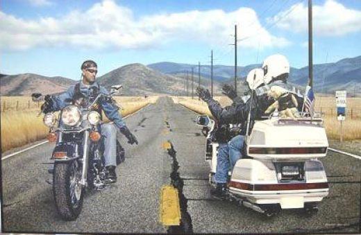 """Motorcycle Etiquette: How Not To Wave Like A Dork!""  Sometimes I choose to wave like dork."