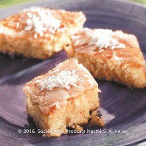Coconut Basbousa Recipe - Ramadan Recipes - Nestle Family ME