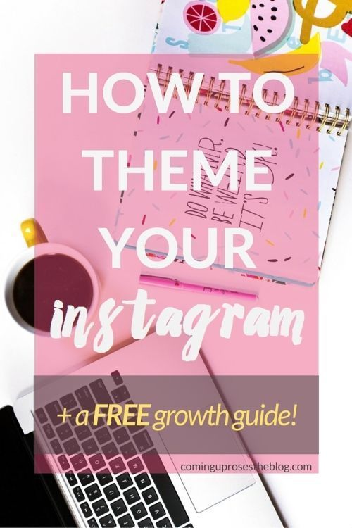 How to Theme your Instagram (+ FREE growth guide!) - Coming Up Roses