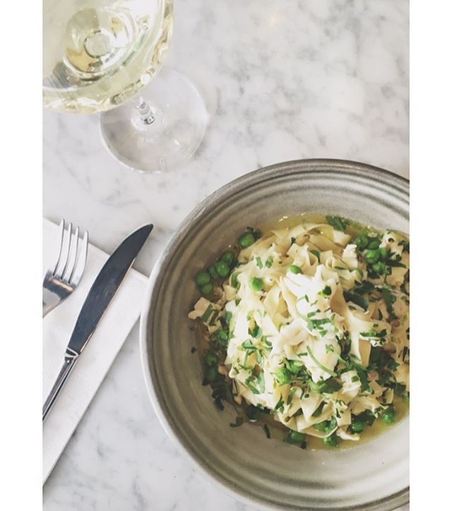 Lunch date tomorrow with our hand made Linguini, Moreton Bay Bug, Green pea,Mint, Vermouth pasta! @publiccbd #lovers #delight #handmadepasta #newmenu #shanepiercy #kitchenmenu #lunch #publiccbd #pastalove #foodporn #cbdlife #adelaide