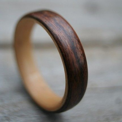 add rustic charm to your wedding with wood - Wood Wedding Ring