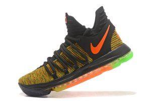 5fdc26a3fcc2 Men s Nike KD X 10 Peanut Jam Multi-Color boys Basketball Shoes ...