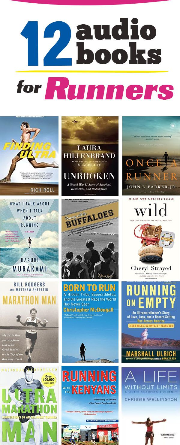 Top 12 Audiobooks for running - great motivators and information on fitness and exercise