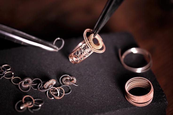 Soha Ring Pizzo.Patiently handmade in Sardinia using filigree technic.