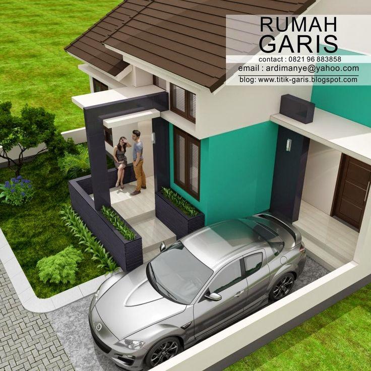 desain teras unik rumah tipe 90 di kapling 10x15 meter