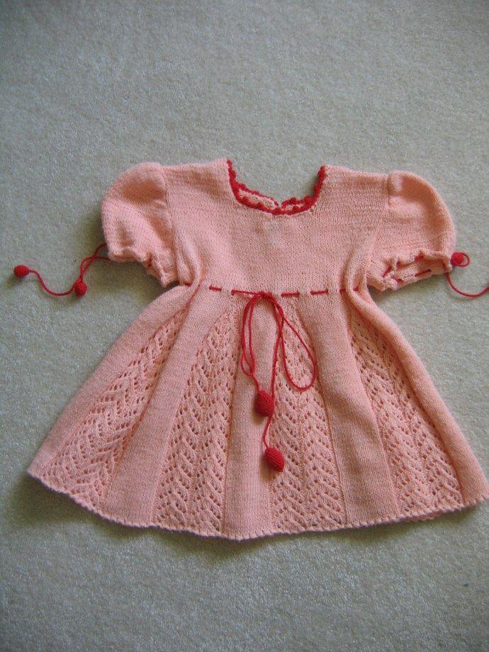 free knit pattern baby lace dress