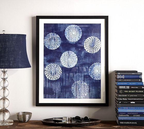 Framed Indigo Circles Abstract Print Pottery Barn Master Bedroom Art New House Pinterest