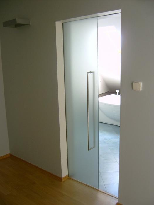 Celoskleněné dveře 100/197 do pouzdra