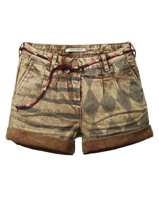 Heavy-washed shorts | Korte broeken | Meisjeskleding bij Scotch & Soda