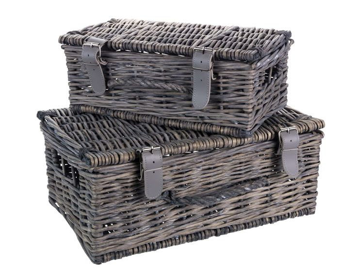 These vintage-inspired rattan hamper baskets are perfect whether used as decoration for your home or on winter days out and about.  Priced at £20.