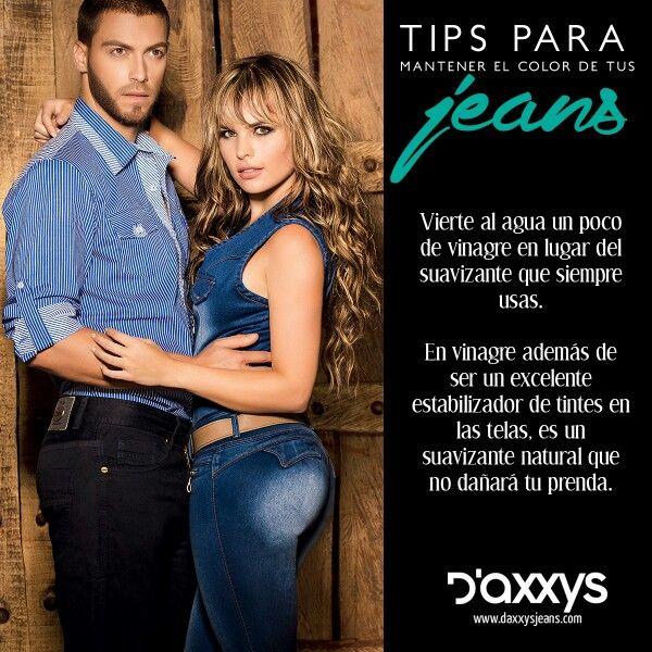 #TipDaxxys ¿Cómo mantener el color de tus jeans como nuevos? Vierte al agua un poco de vinagre en lugar del suavizante que siempre usas. En vinagre además de ser un excelente estabilizador de tintes en las telas, es un suavizante natural que no dañará tu prenda.