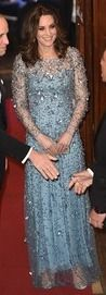 Kate was reduced to fits of giggles tonight when her husband was forced to take part in the Royal Variety Performance by the show's host, Miranda Hart in London.