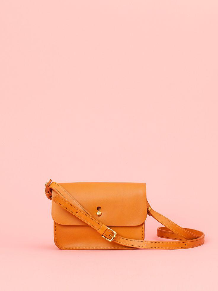 Robin - Caramel Leather Bag, Mimi Berry SS16