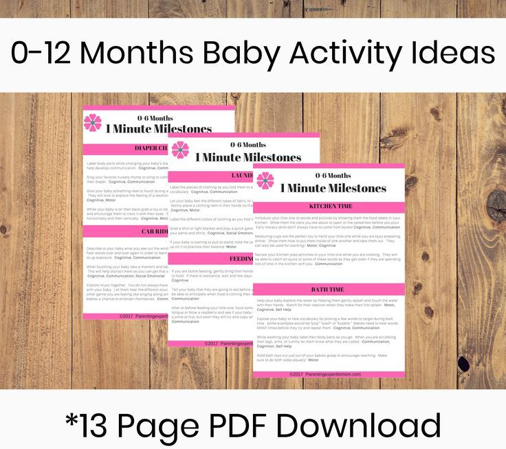 0 12 Months Infant Activity Ideas Printable Infant Activities Activities Baby Information