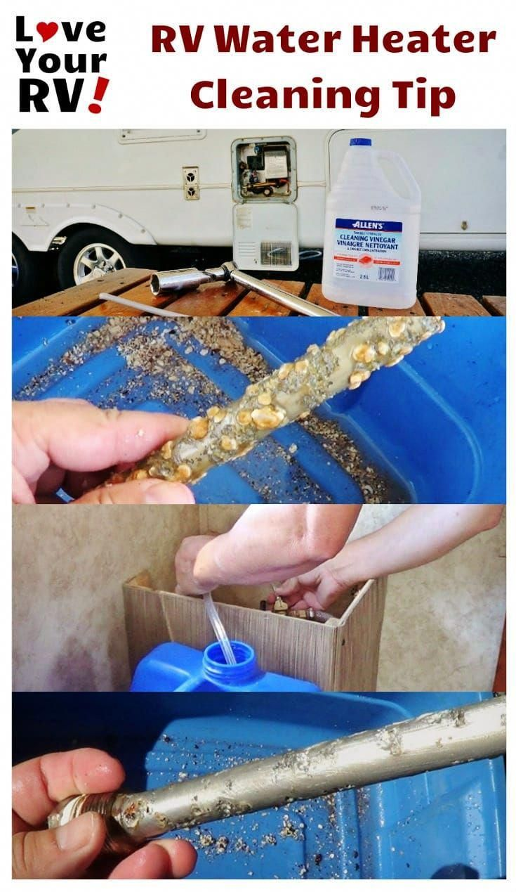 Cleaning The Rv Water Heater Tank With Vinegar Tip In 2020 Cleaning Hacks Rv Water Heater Rv Water