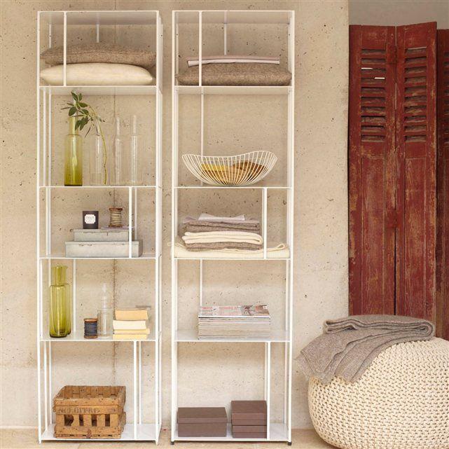 biblioth que m tal parallel am pm la redoute 180 50 30 159 salon les vans. Black Bedroom Furniture Sets. Home Design Ideas