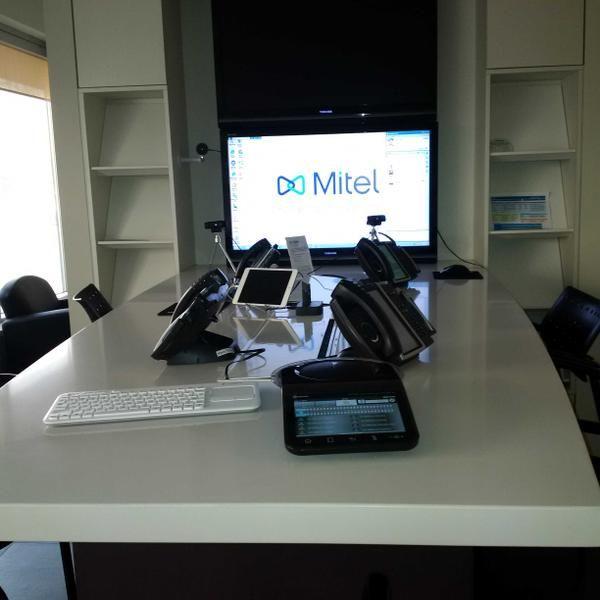@Mitel Demo Centre in Toronto, Ontario, Canada.  MiCollab UC360 Demo Station.
