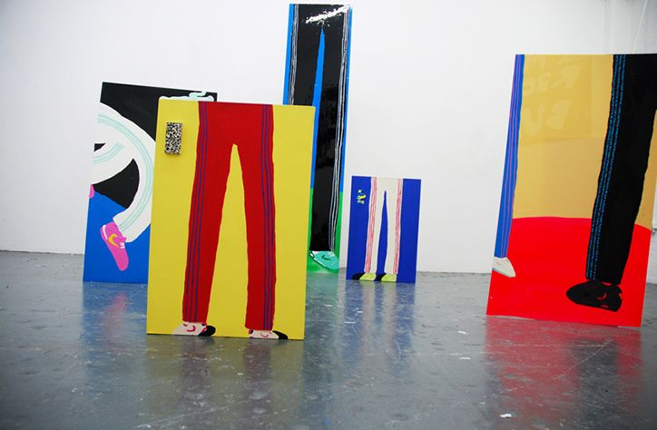 It's Nice That | Legs 11: artist Alfie Kungu's comically long-trousered figures